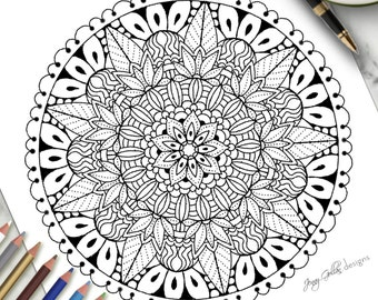 Printable Colouring Page Designer Label