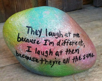 painted rock, rainbow, galaxy, quotes, painted stone, inspiration, home decor