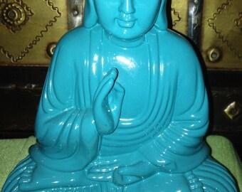 Turquoise Color Sitting Buddha