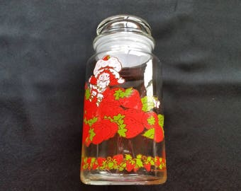 Strawberry Shortcake Glass Canister