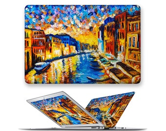 macbook decal rubberized front hard cover for apple mac macbook air pro touch bar 11 12 13 15  oil painting