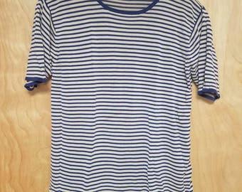 Striped Silk Tshirt