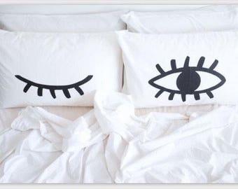 Eye Wink Pillow Set
