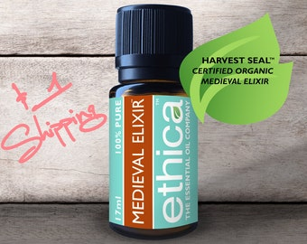 Thieves Medieval Elixir Essential Oil | 17ml/.57oz Size | Organic, Ethical and Authentic Aromatherapy | Approx 350 Drops