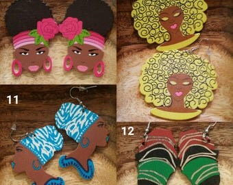 Wood Earrings SALE (Regular price 15.00) FREE SHIPPING
