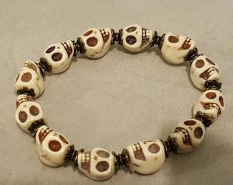 Gothic skull bracelet,skulls,bracelet,gothic jewellery