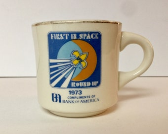 First in Space Boyscouts Coffee Mug - 1973