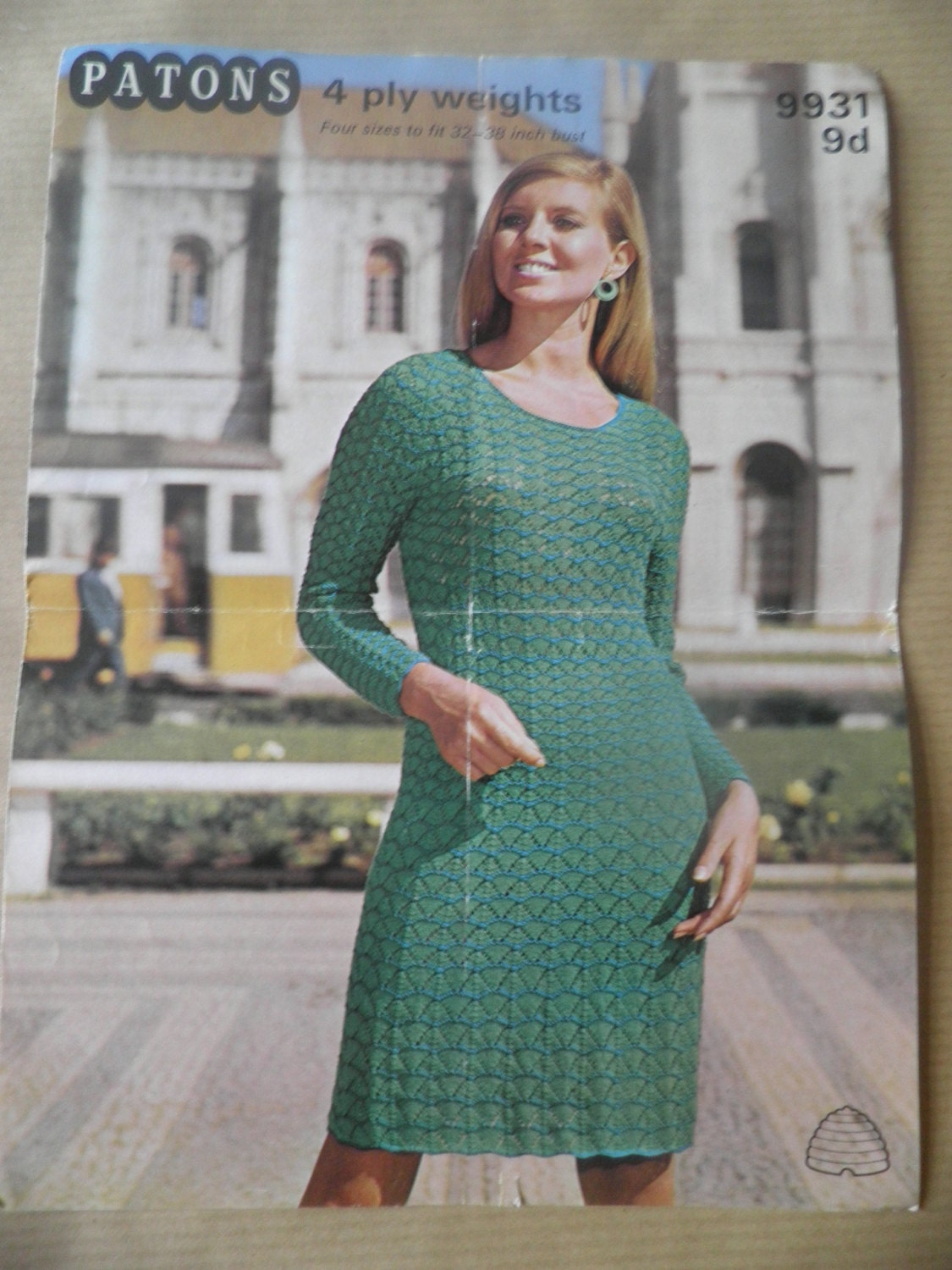 Vintage 1960s lacy knitted dress pattern 4ply patons details a gorgeous original 1960s dress pattern bankloansurffo Image collections