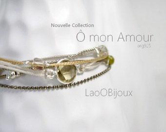Bracelet Ô Mon Amour de LaoÔBijoux, Silver 925 , stones