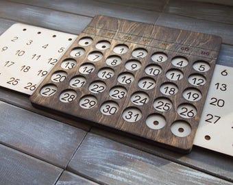 Wooden Perpetual Calendar / Office  calendar / wooden wall calendar