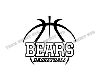 Bears Swoosh Download Files SVG DXF EPS Silhouette