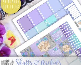 Skulls & Orchids Signature Weekly Kit - Printable Stickers for ERIN CONDREN