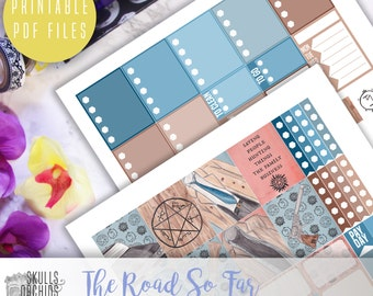 The Road So Far Weekly Kit - Printable Stickers for ERIN CONDREN