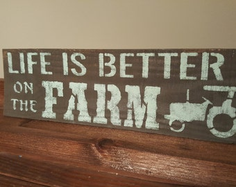 Farmhouse Decor, On the Farm, Farm Sign Wood, Rustic Decor, Country Home Decor, Fixer Upper Decor, Mother's Day Gifts, Farmhouse Sign