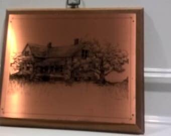 Vintage Copper Etching - Signed V. Geraci