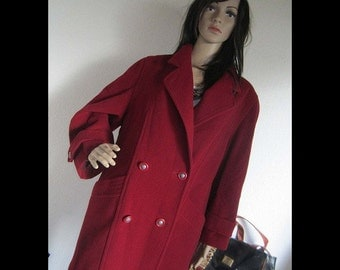Vintage 80s wool coat jacket wool Mahar Berlin S oversize