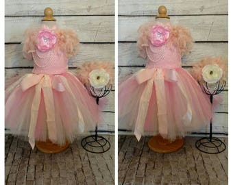 Pink and gold first birthday dress,pink lace first birthday dress,pink and gold flower girl dress,toddler flower girl dress, vestido de bebe