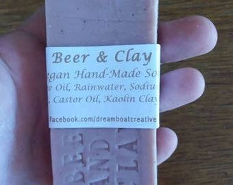 Vegan Olive Oil Soap with Beer & Clay
