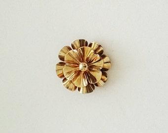 Vintage Layered Flower Brooch