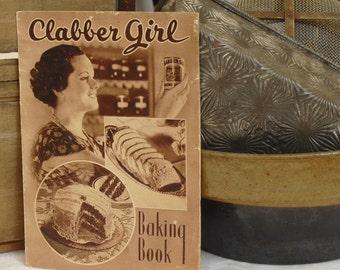 Vintage Baking Soda Recipe Book, Clabber Girl Baking Book, How To Guide, Cooking, Recipe Booklet, Cookbook, Utensils, Gadgets, Illustrations