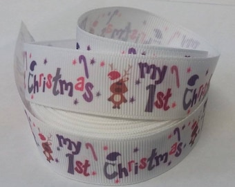 My 1st Christmas ribbon