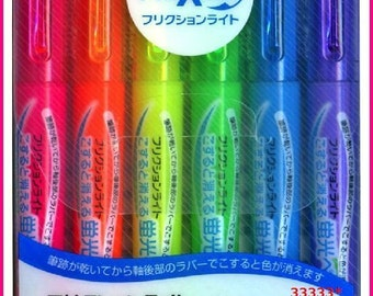 NEW!! PILOT 6 Colors FriXion Marker Pens Erasable Highlighter Made In Japan