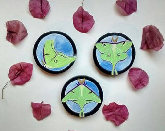 Luna Moth Magnets