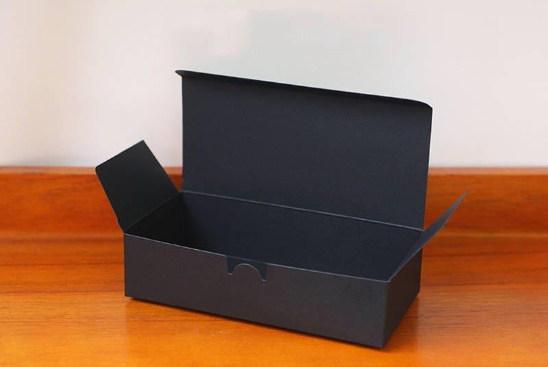 5 black long gift boxes black favor boxes black cookie box for Black box container studios