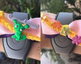 Tangled Theme Magic Band Bow (Rapunzel or Pascal)