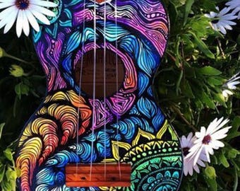 Custom high quality handpainted Uke!