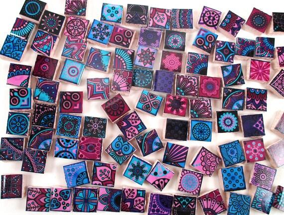 Azulejos de mosaico de cer mica colores brillantes for Mosaico marroqui