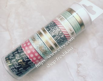 the paper studio washi tape petal and blooms 9cs