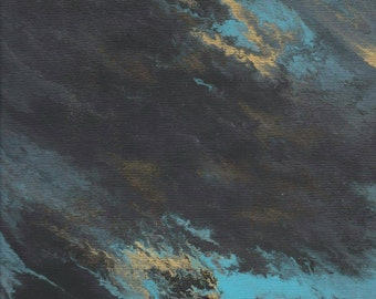 "Abstract acrylic painting "" night sky"""