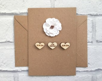 Wedding card, Just married card, Getting married card, Rustic wedding card, On your wedding day card, Marriage card, Vintage wedding card