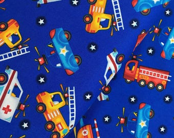 Dark Blue Rescue Vehicles from the Be My Hero Collection by Henry Glass, Fireman, Firefighter, Firetruck