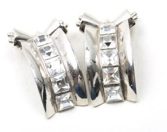 Vintage Butler and Wilson Silver Earrings