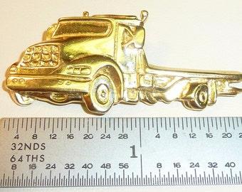 "14K Roll Off Truck Pendant ""custom made"" Unique, 6.4 grams"