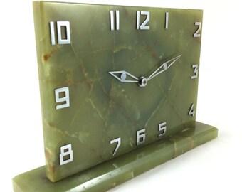 Antique art deco onyx clock