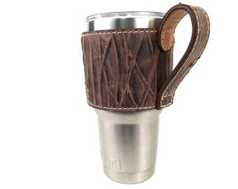 Sasquatch Yeti cup leather handle