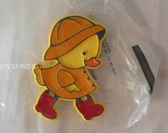 Duck in waders lapel pin