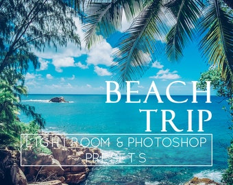 5 Beach Lightroom Presets, Photoshop Actions, Lightroom Overlay, Pro Preset, Sunlight Preset, Lightroom CC, Adobe Lightroom, Film Presets
