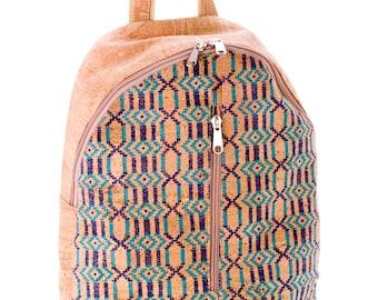 Cork backpack in ethno-look