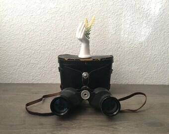 Vintage Binolux 7x35 binoculars with carrying case, 1960s