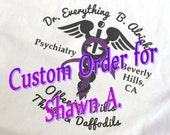 Custom Order for Shawn A Prince Let's Go Crazy Decal Dr. Everything B. Alright Shrink in Beverly Hills Psychiatrist Purple Rain