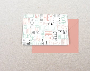 Hello Card Set, Greeting Cards, Blank Cards Notecards, Stationery Notecards, Greeting Notecards, Personalized Stationery