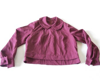 Purple /  Magenta Blouse 50's Polyester