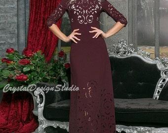 S-5XL Marsala Floor length dres Maxi dress Prom Dress Cocktail Dress plus size Party dress electric blue Evening dress Holiday dress