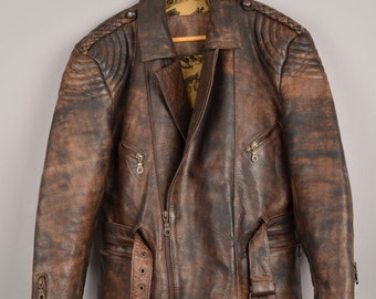 cima biker jacket, leather jacket, motorcycle jacket, brown leather jacket, genuine leather jacket, men biker jacket, black leather jacket
