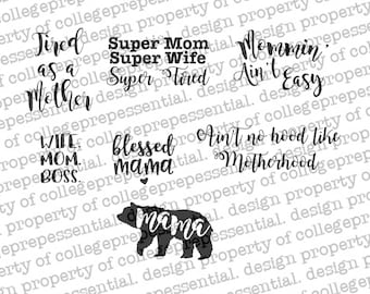 Seven Momma Life SVG Files