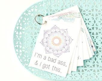 Birth Affirmation Cards, Blessingway printable cards, positive birth and labor affirmations, printable labor tools, printable mantra banner